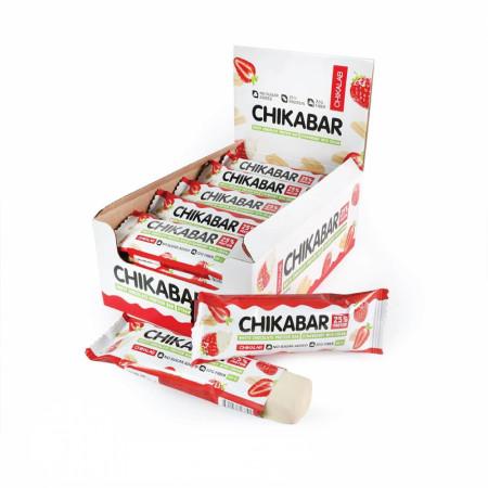 Батончик глазированный Bombbar CHIKALAB 60 г Клубника со сливками