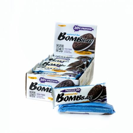 Протеиновый батончик Bombbar 60г Печенье-крем