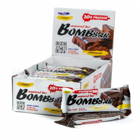 Протеиновый батончик Bombbar 60г Двойной шоколад
