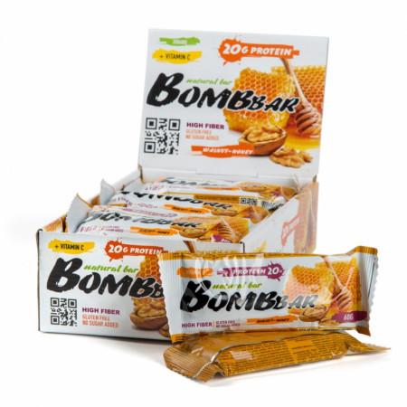 Протеиновый батончик Bombbar 60г Грецкие орехи с медом