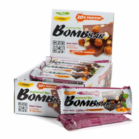 Протеиновый батончик Bombbar 60г Шоколад-фундук