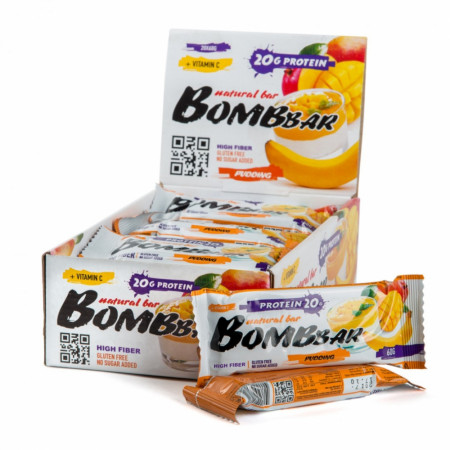 Протеиновый батончик Bombbar 60г Манго-банан