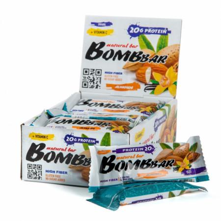 Протеиновый батончик Bombbar 60г Миндаль-ваниль