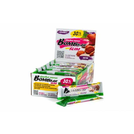Протеиновый батончик Bombbar Slim 35г  Фундук-арахис