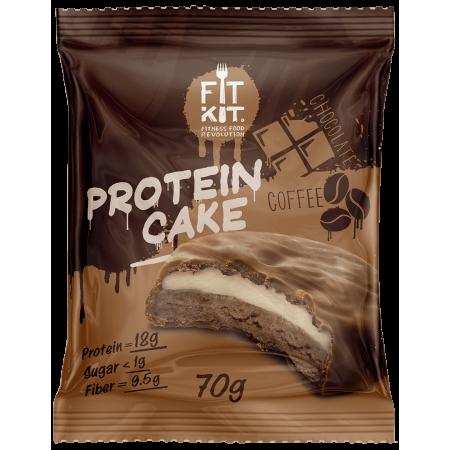 Печенье глазированное Fit Kit Protein Cake 70г Кофе