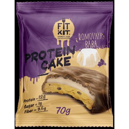 Печенье глазированное с начинкой FITKIT Protein 70г Ромовая баба