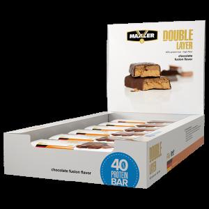 Батончикм Maxler Double Layer Bar 60г 1шт шоколад