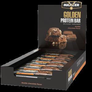 Батончик протеиновый Maxler Golden Bar 65г  Двойной шоколад