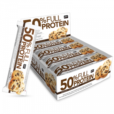 Батончик протеиновый QNT Full Protein Bar 50г Шоколадное печенье