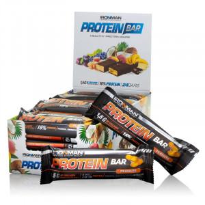 Батончик протеиновый IRONMAN Protein Bar с коллагеном 50г Орех