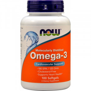 Омега-3 NOW Omega 3 1000 mg 100 капсул