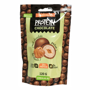 Драже фундук в шоколаде BombBar CHIKALAB 120гр.