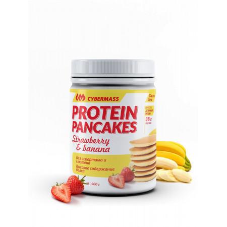 Смесь для блинов Cybermass Protein PANCAKES 500 г Банан-клубника