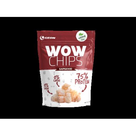 Чипсы протеиновые GEON WOW Protein Chips 30г барбекю