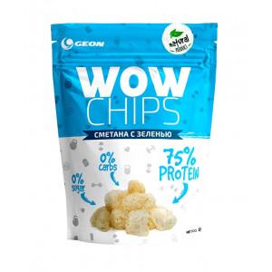 Чипсы протеиновые GEON WOW Protein Chips 30г Сметана-зелень