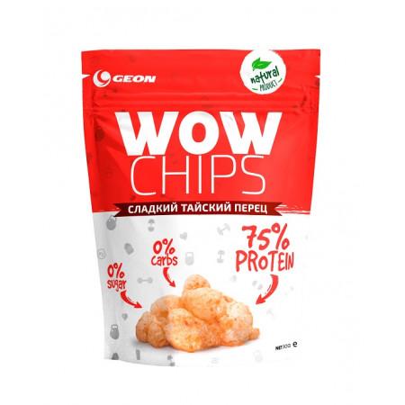 Чипсы протеиновые GEON WOW Protein Chips 30г Сладкий тайский перец