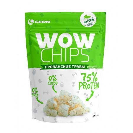 Чипсы протеиновые GEON WOW Protein Chips 30г Прованские травы