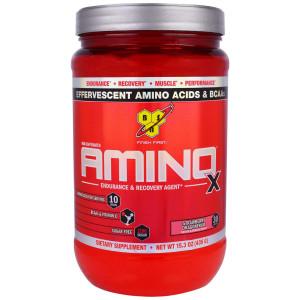 Аминокислоты BSN Amino-X 435г Клубника-драгонфруит