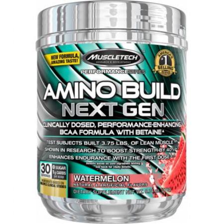 Аминокислоты в порошке MuscleTech Amino Build Next Gen 30 порций Белая малина