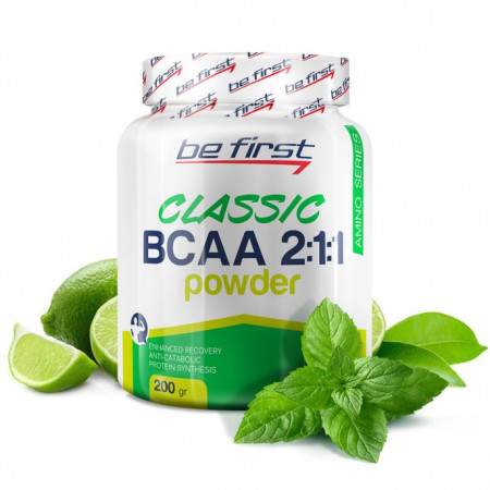 Be First BCAA 2:1:1 CLASSIC powder 200 г мята-лайм