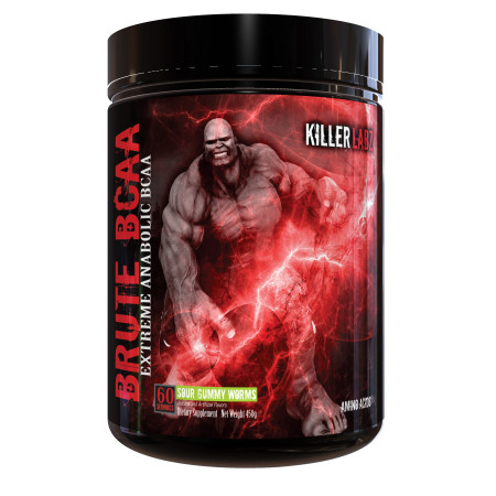 Bcaa Killer Labz Brute  450г  (60 порций + laxogenine) Sour gummy worms