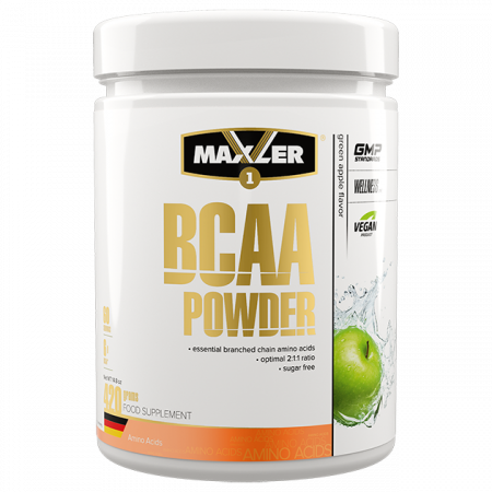 Maxler BCAA Powder 2:1:1 Sugar Free (DE) 420г Зеленое яблоко