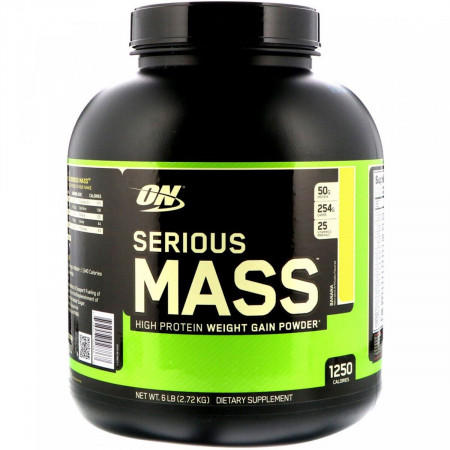 OPTIMUM NUTRITION SERIOUS MASS 2720 Г BANANA