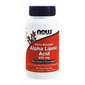 Альфа-липоевая кислота NOW Alpha Lipoic Acid 600 mg 60 капсул