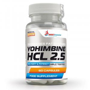 Йохимбин WestPharm Yohimbine HCL 2.5 60 капсул
