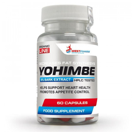 WestPharm Yohimbe Extract 50 mg 60 caps