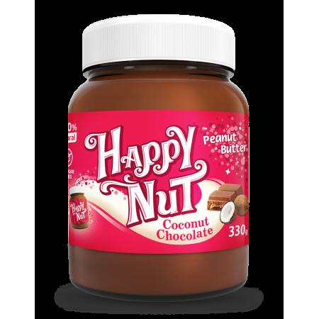 Шоколадная арахисовая паста с кокосом Happy Nut  330г
