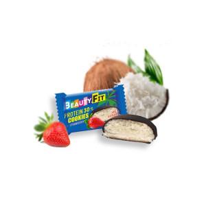 Кокосовое печенье Beauty Fit  в глазури 40г Клубника