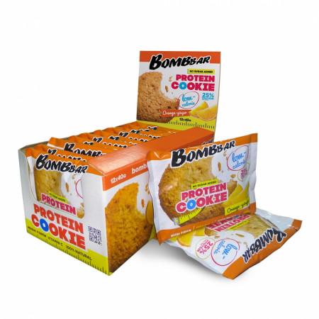 Bombbar Протеиновое печенье (12 шт шоубокс) 40 г апельсин-имбирь