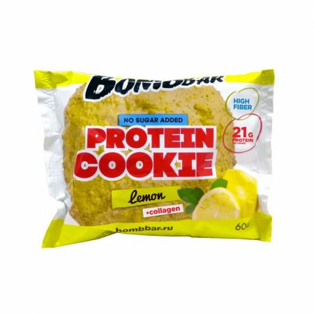 Протеиновое печенье Bombbar 60 г Лимон