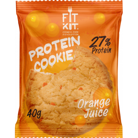 Fit Kit Protein Cookie 40г апельсин