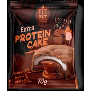 Печенье глазированное Fit Kit Protein Cake EXTRA 70г  Шоколадный фондан