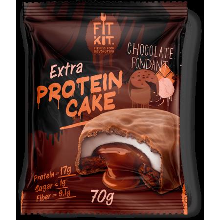 Fit Kit Protein Cake EXTRA 70г 1шт шоколадный фондан