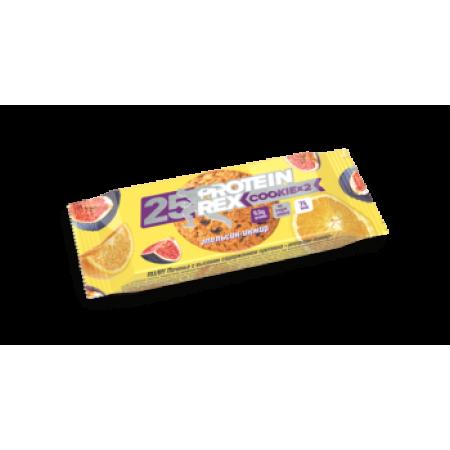 Печенье с высоким содержанием протеина Rex 50г  Апельсин-инжир