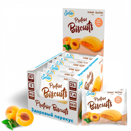 Solvie Protein Biscuits 40г абрикос