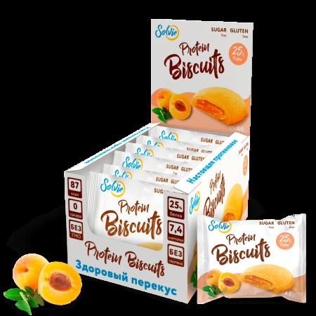 Печенье с начинкой Solvie Protein Biscuits 40г Абрикос