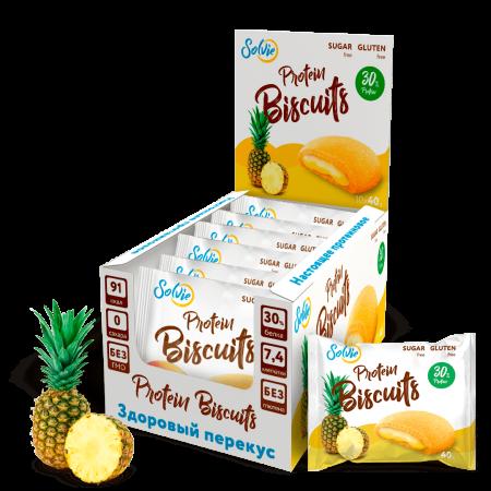 Solvie Protein Biscuits 40г ананас