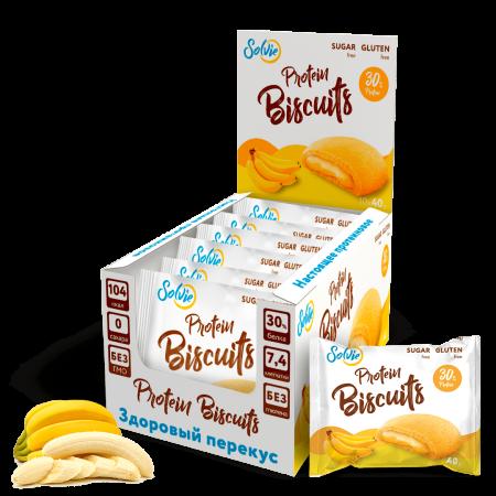 Solvie Protein Biscuits 40г банан