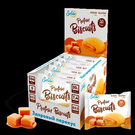 Печенье с начинкой Solvie Protein Biscuits 40г Карамель