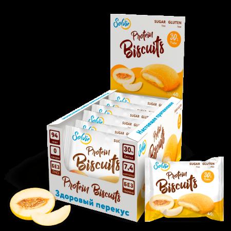 Solvie Protein Biscuits 40г дыня