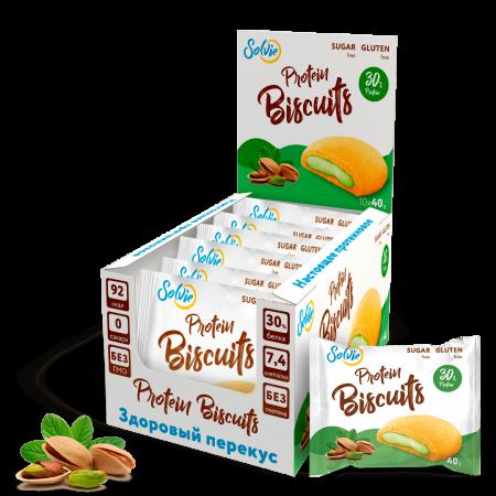 Solvie Protein Biscuits 40г фисташка