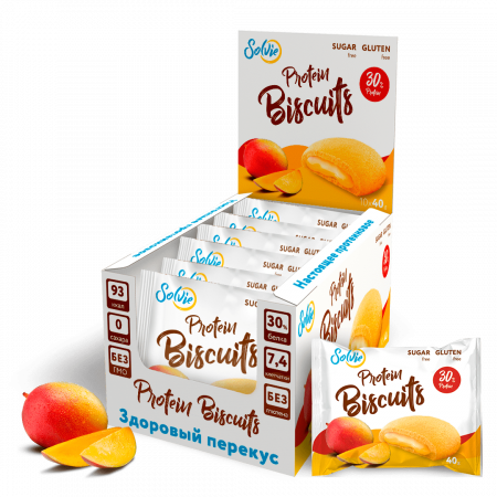 Solvie Protein Biscuits 40г манго