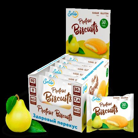 Solvie Protein Biscuits 40г груша