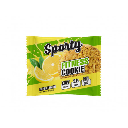 Sporty Печенье Fitness Cookie 40 гр. (х12) свежий лимон