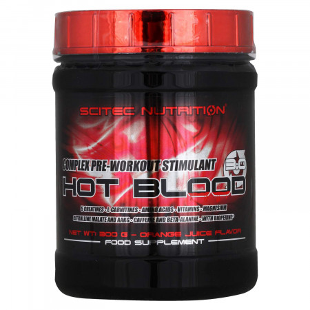 Scitec Nutrition Hot Blood 3.0 апельсин 300г