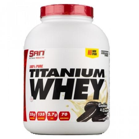 Протеин SAN 100% Pure Titanium Whey 2270г  Печенье-крем